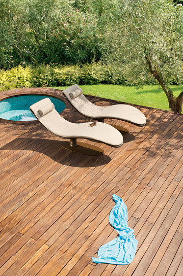 Caribe 9578 chaiselongue by ROBERTI outdoor pleasure | Sun loungers
