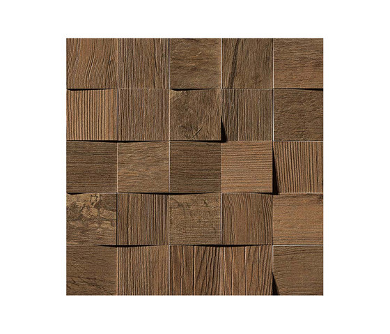 Axi Dark Oak Mosaico 3D by Atlas Concorde | Tiles