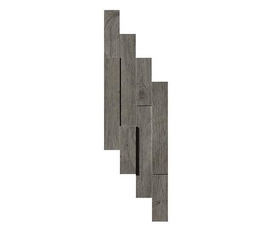 Axi Grey Timber Brick 3D de Atlas Concorde | Baldosas de suelo