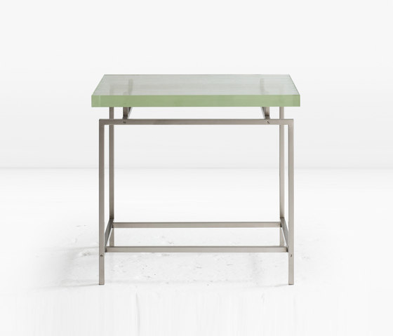Frazier Side Table Nickel by Khouri Guzman Bunce Lininger | Side tables