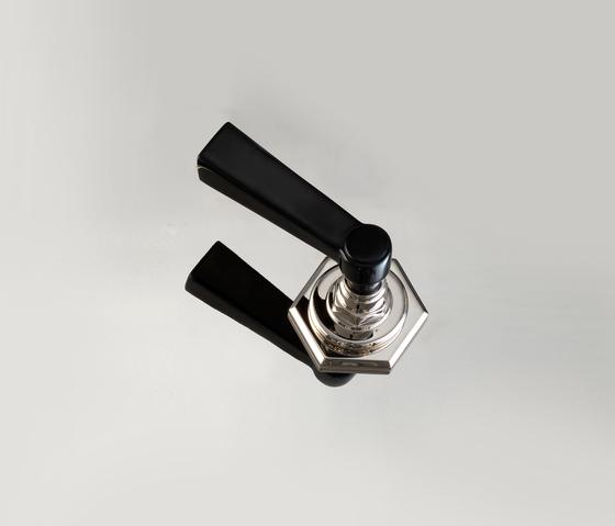 Jubilee Black Cross Inset diverter by Devon&Devon | Wash-basin taps