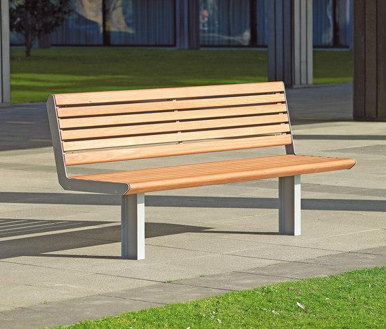 Paribus Bench by Westeifel Werke   Exterior benches