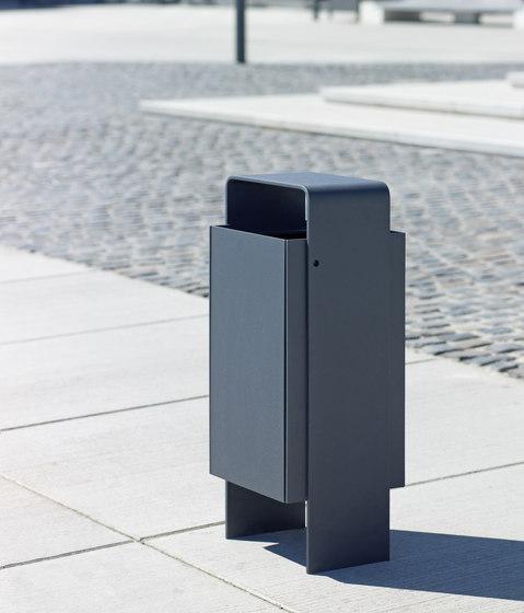 Versio levis Litter bin 50 L incl. ashtray by Westeifel Werke   Waste baskets