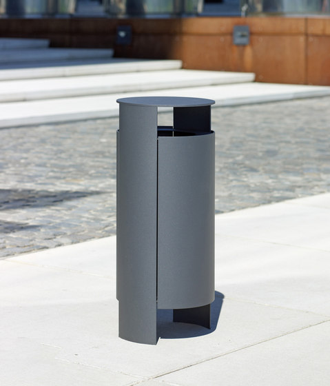 Versio orbis Litter bin 40 L incl. ashtray di Westeifel Werke | Pattumiere
