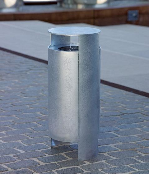 Versio orbis Litter bin, galvanized, 40 L incl. ashtray by Westeifel Werke | Exterior bins