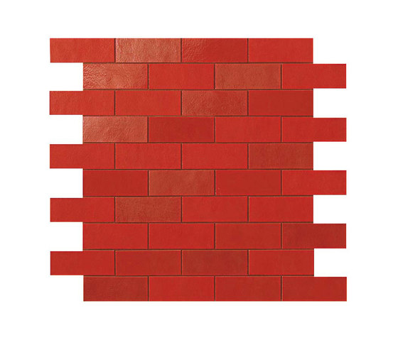 Ewall Red Minibrick by Atlas Concorde | Ceramic tiles
