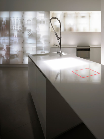 Corian® Nouvel Lumieres by Ernestomeda | Fitted kitchens