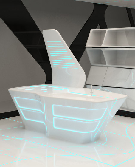 Tron designs Corian® by Ernestomeda | Fitted kitchens