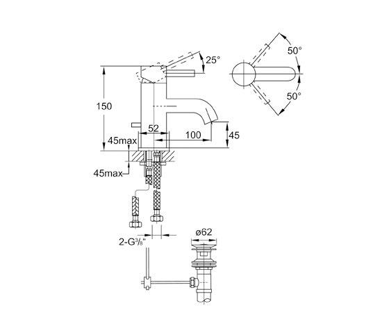 100 1000 Waschtisch-Einhebelmischbatterie von Steinberg | Waschtischarmaturen