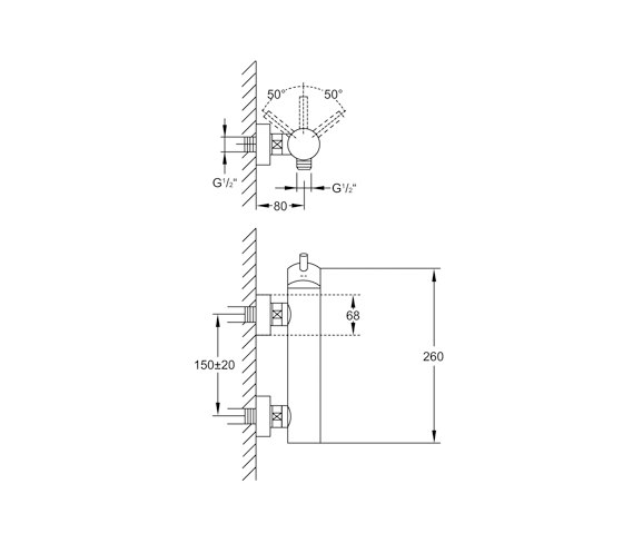 """100 1220 Exposed single lever mixer ½"""" for shower by Steinberg 