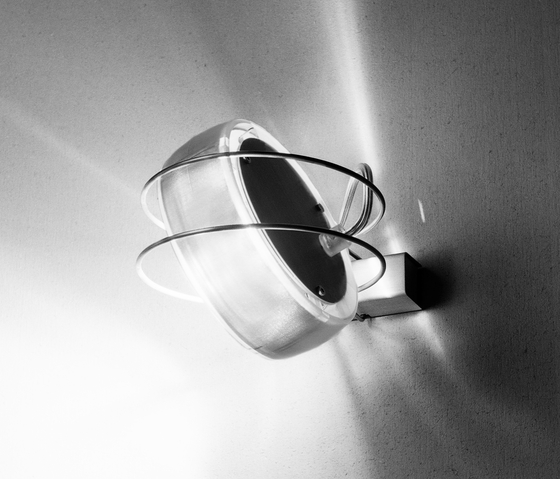 Opto 3D transparent by Wortmeyer Licht | Wall lights