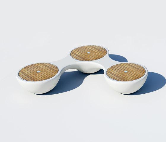 Yacht Bench 3 Seater von Jangir Maddadi Design Bureau | Gartenbänke