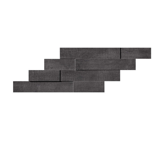 Mark Graphite Brick 3d by Atlas Concorde | Ceramic tiles