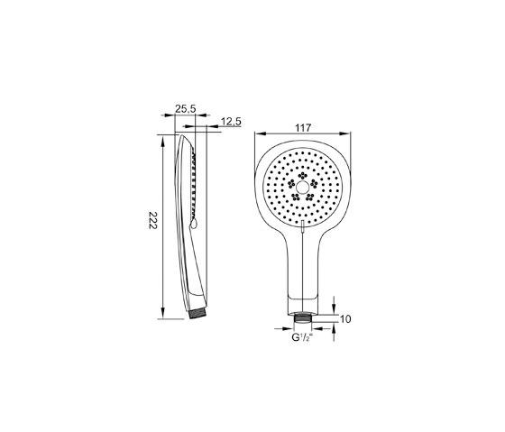 100 1656 Hand shower by Steinberg   Shower controls