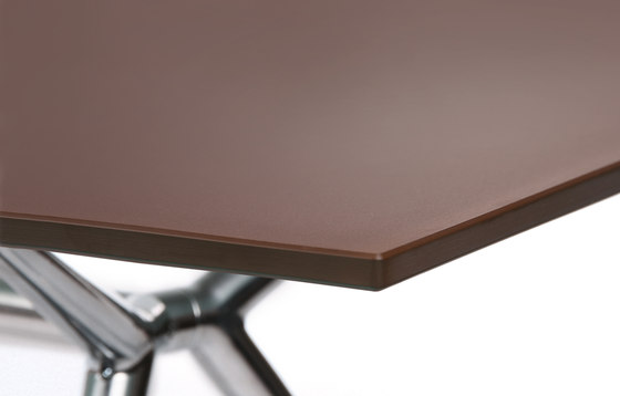 W-Table Work Chocolate Brown by Wagner | Individual desks