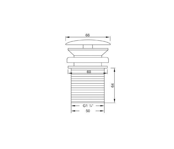 "100 1693 Shaft valve 1 ¼"" by Steinberg"