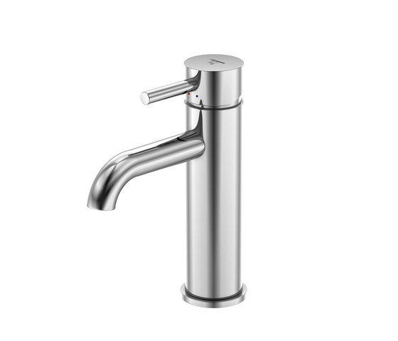 100 1750 Single lever basin mixer without pop up waste by Steinberg | Wash basin taps