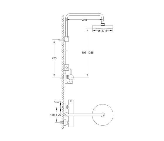 100 2760 Shower set by Steinberg | Shower controls