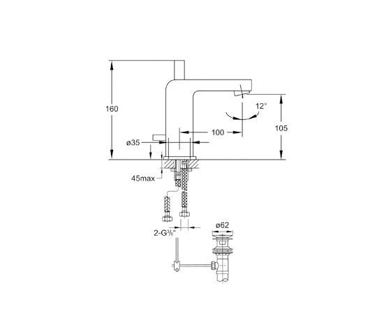 120 1000 Waschtisch-Einhebelmischbatterie von Steinberg | Waschtischarmaturen