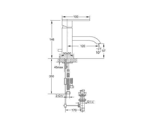 135 1001 Waschtisch-Einhebelmischbatterie von Steinberg | Waschtischarmaturen