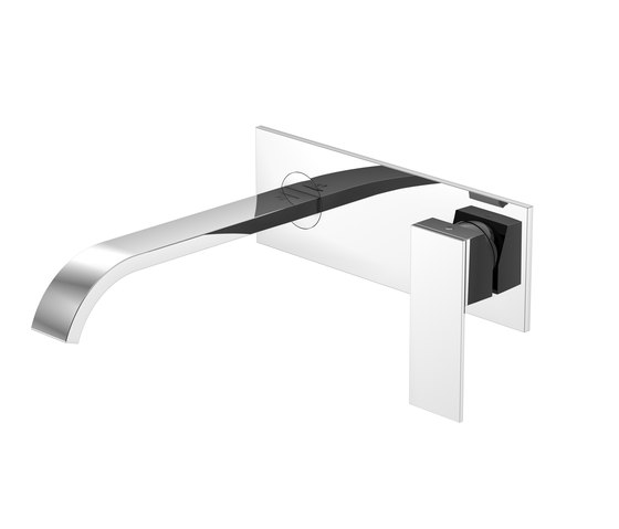 135 1857 Wall mounted single lever basin mixer by Steinberg | Wash basin taps