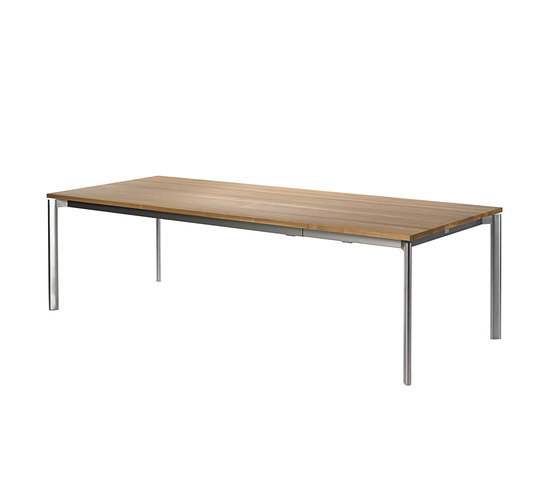 Swing front slide extension table by Fischer Möbel | Dining tables