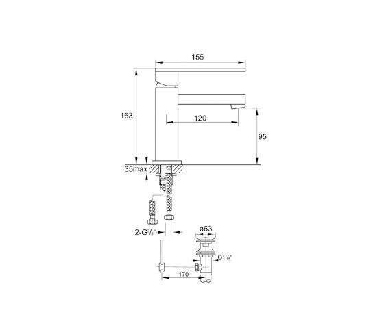 160 1000 Waschtisch-Einhebelmischbatterie von Steinberg | Waschtischarmaturen