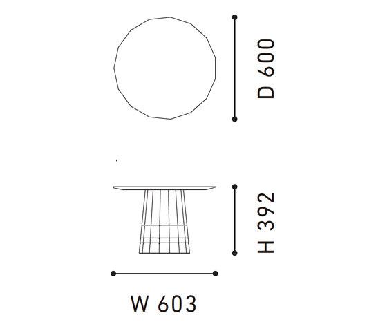 Colour Wood Dark Grid de Karimoku New Standard | Mesas auxiliares