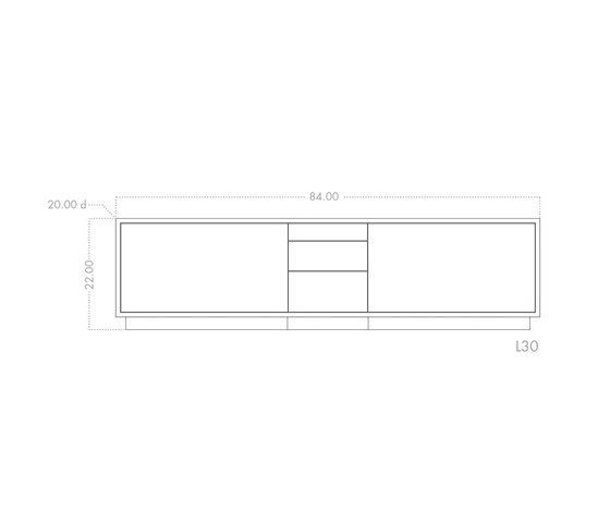 lineground lowdown media unit by Skram | AV cabinets