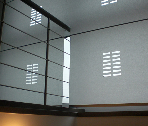 Perforation by Wood & Washi | Partition wall systems