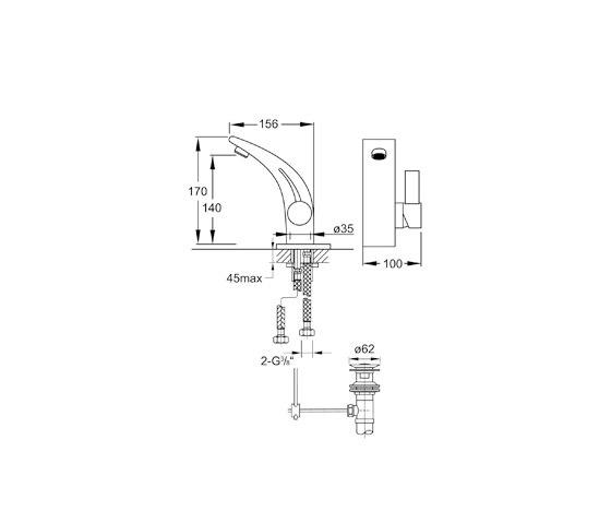180 1000 Waschtisch-Einhebelmischbatterie von Steinberg | Waschtischarmaturen