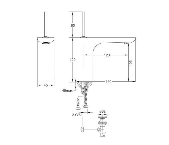 200 1000 Waschtisch-Einhebelmischbatterie von Steinberg | Waschtischarmaturen