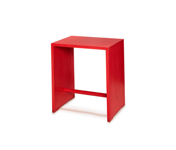 Bill | Ulmer Stool birch | fire red by wb form ag | Night stands
