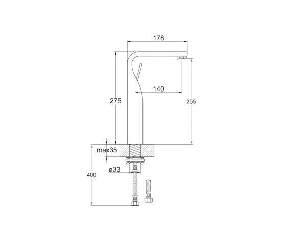 230 1700 Single lever basin mixer by Steinberg   Wash-basin taps