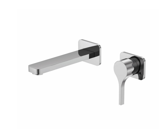 230 1800 Wall mounted single lever basin mixer by Steinberg   Wash basin taps