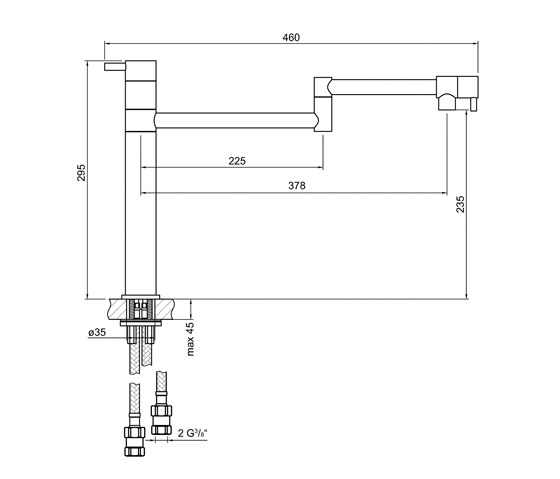100 1490 Single lever sink mixer by Steinberg | Kitchen taps