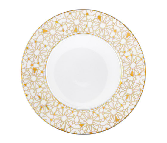 AURÉOLE DORÉE Bottom plate by FÜRSTENBERG | Dinnerware