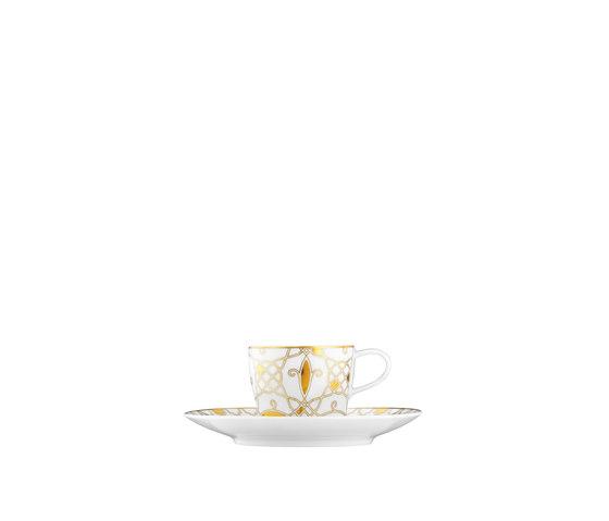 AURÉOLE DORÉE Espresso cup, saucer by FÜRSTENBERG | Dinnerware
