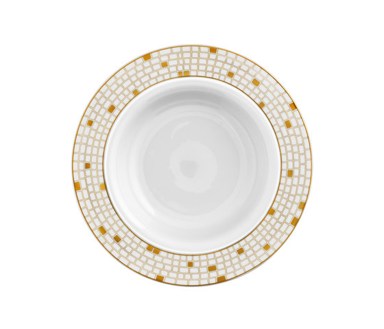 AURÉOLE DORÉE Pasta plate by FÜRSTENBERG | Dinnerware