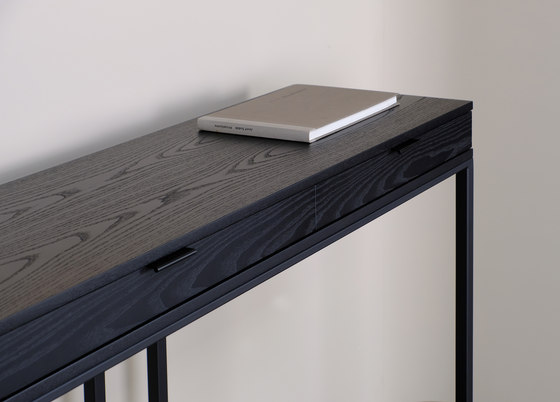 wishbone 2-drawer high table by Skram | Console tables