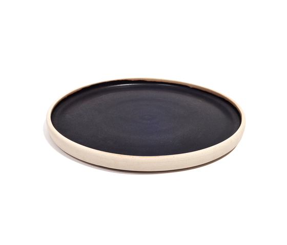 OTTO plate black (L) | Set of 2 by Frama | Bowls