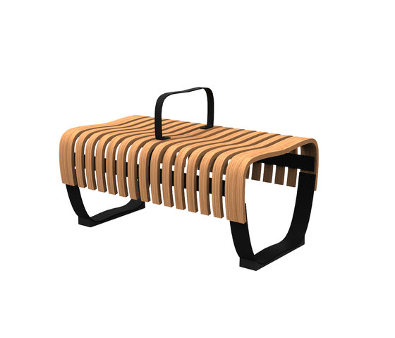 Nova C Bench module with armrest by Green Furniture Concept   Modular seating elements