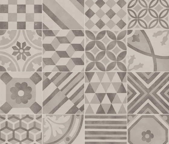Block Decoro Mix White/Silver/Black by Marazzi Group | Ceramic mosaics