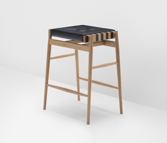 Leather high stool by H Furniture | Bar stools
