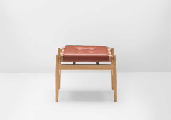 Leather stool by H Furniture | Ottomans