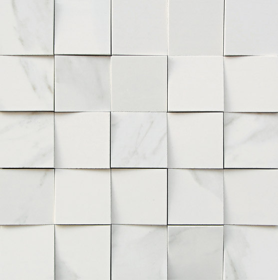 Mosaico 3D Bianco Statuario JW 01 by Mirage | Ceramic tiles