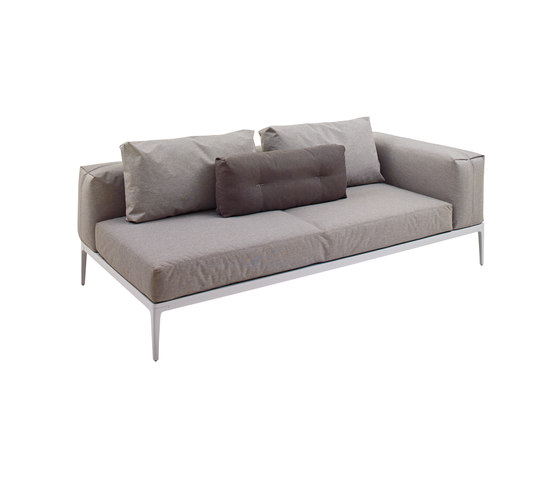 Grid Right End Unit by Gloster Furniture | Garden sofas