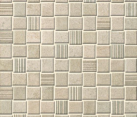 Desert Check Beige Mosaico by Fap Ceramiche | Ceramic mosaics