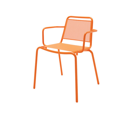Nomad Sling Stacking Chair with Arms by Gloster Furniture | Garden chairs