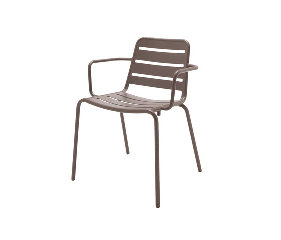 Nomad Alu Stacking Chair with Arms by Gloster Furniture | Garden chairs